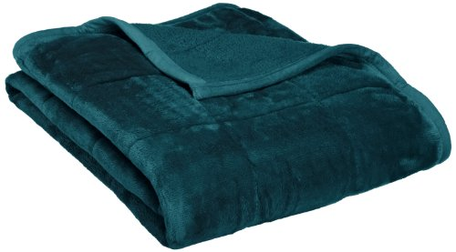 Northpoint Baroque Quilted Berber Reversible Throw Blanket, Teal (Quilted Throw Polyester compare prices)