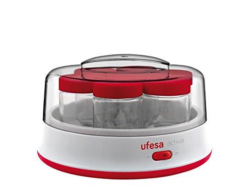 Ufesa YG3000 - Yogurtera Electrica Blanco/Rojo