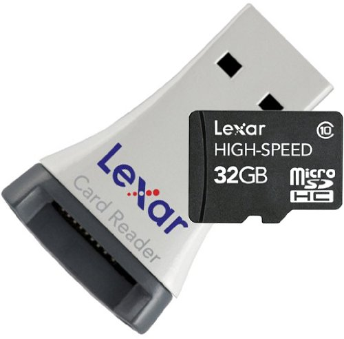 Lexar 32GB Micro SDHC High Speed Card with Reader – Class 10 Extreme Speed