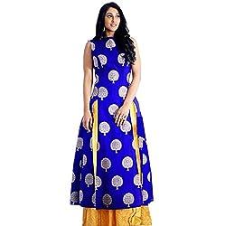 The Zeel Fashion Blue Color bengloryi silk Unstitched lehengas set