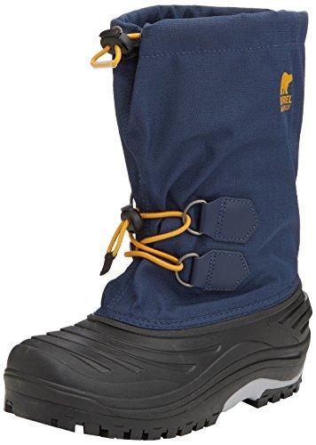 Sorel YOUTH SUPER TROOPER, Stivaletti da neve a gamba corta, imbottitura pesante Unisex - bambino, Blu (Blau (Nocturnal, Gallion 591)), 33