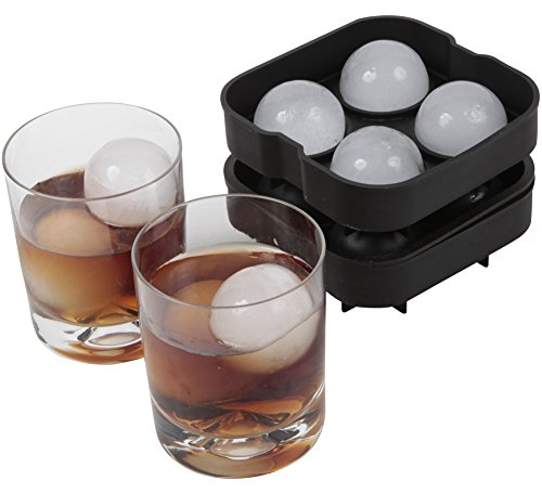 Arctic Chill Ice Sphere Tray, 2 Pack, Black Home Garden