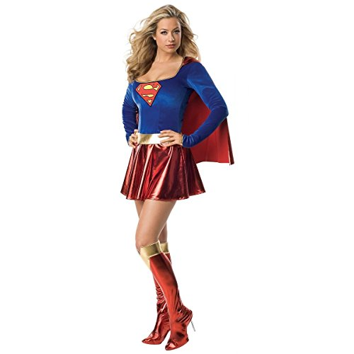 GSG Supergirl Costume Adult Superwoman Female Sexy Hero Halloween Dress (Superwoman Costume For Toddler)