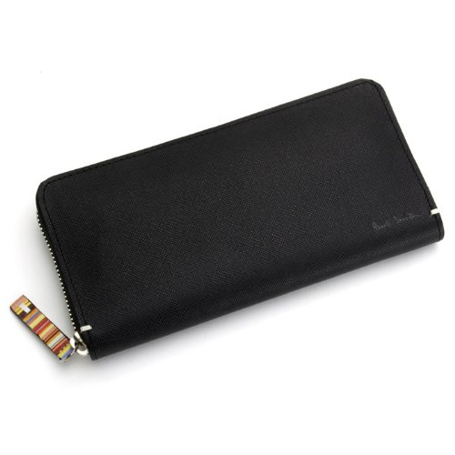 ポールスミス PaulSmith メンズ ラウンドファスナー式 長財布 PSK869-10 (ブラック)