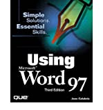 img - for [(Using Microsoft Word 97 )] [Author: Joshua C. Nossiter] [Apr-1998] book / textbook / text book