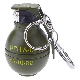 novelty shape anti tank grenade metal gas lighter military gift