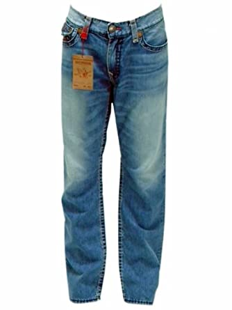 True Religion Men's Ricky Super T Straight Jeans M24859BT8 W3 Sunset 32
