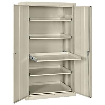 sandusky et52362466 07ll putty steel storage cabinet 5. Black Bedroom Furniture Sets. Home Design Ideas