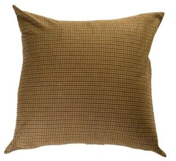"Tea Cabin Green Plaid Pillow Fabric 16X16"""