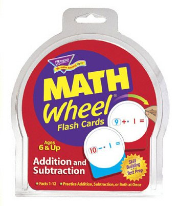 Math Wheel Addition and Subtraction Flash Card Game