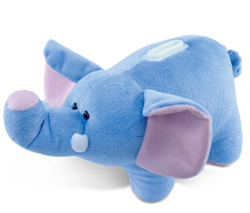Puzzled Plush Elephant Huggie Bank