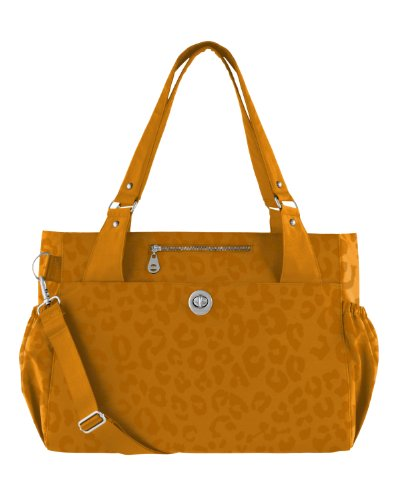 Baggallini Palermo Diaper Bag, Butterscotch Cheetah, One Size front-1010285