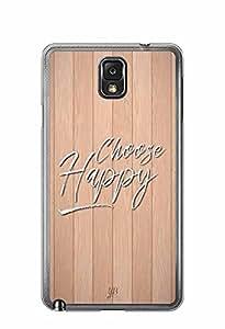 YuBingo Choose Happy Designer Mobile Case Back Cover for Samsung Galaxy Note 3