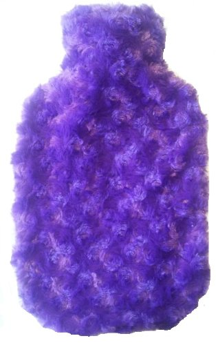 Warm Tradition Purple Minky Swirls Covered Hot Water Bottle - Bottle Made In Germany, Cover Made In Usa