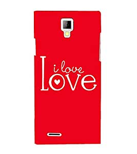 I Love You 3D Hard Polycarbonate Designer Back Case Cover for Micromax Canvas Xpress A99
