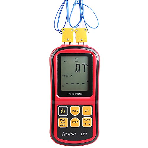 Leaton® Digital Thermocouple Thermometer Dual-channel LCD Backlight Temperature Meter Tester for K/J/T/E/R/S/N Great (Digital Thermometer K Type compare prices)