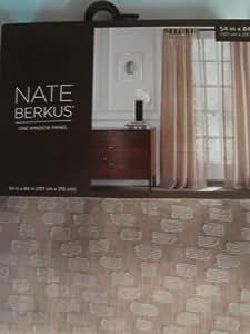 Nate berkus aztec diamon window panel khaki for Nate berkus window treatments