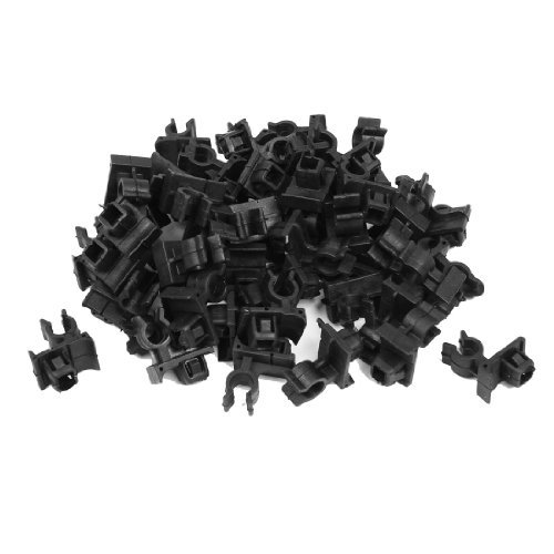 50PCS Black Plastic Rivet Trim Panel Car Door Retainer Clips 8mm Hole