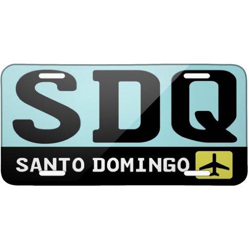 metal-license-plate-airport-code-sdq-santo-domingo-country-dominican-republi