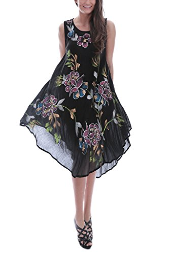 Women's Floral Embroidered Shift Dress, 115