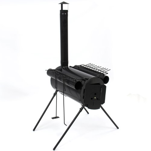 Portable Military Camping Steel Wood Stove Tent Heater for Fishing Camp Cooking