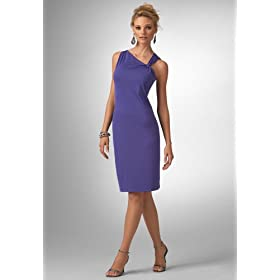 Knitted Dress on Fashionable Shoes  Chadwicks Asymmetric Knit Dress