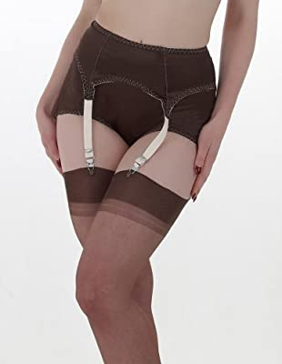 What Katie Did Coco Chocolate and Peach Suspender Belt L2055