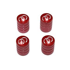 Horseshoes - Horse Tire Rim Valve Stem Caps - Red