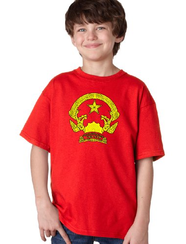 VIETNAM COAT OF ARMS Youth T-shirt / National Vietnamese Emblem, Historic Costume Tee