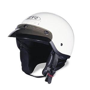 Z1R Drifter Solid Helmet , Size: XS, Primary Color: White, Distinct Name: White, Helmet Category: Street, Helmet Type: Half Helmets, Gender: Mens/Unisex ZR-20022