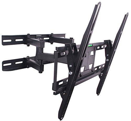 "VonHaus Double Arm Articulating Cantilever TV Bracket Wall Mount with Tilt- for 23""-56"" LCD LED Plasma Flat Panels - Heavy Gage Reinforced Steel"