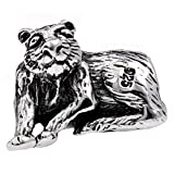 Silverado 'Tiger' Silver Charm - Fits On Pandora Chamilia And Troll Bracelets