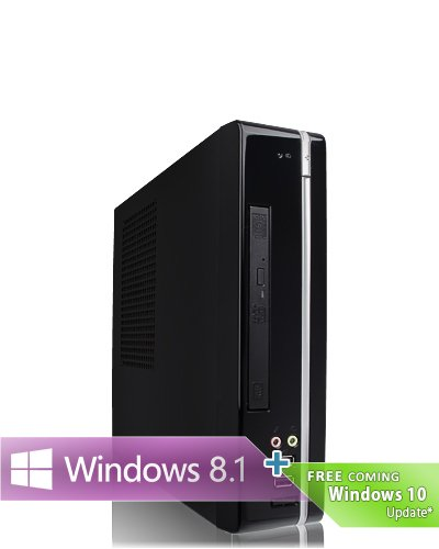 Ankermann-PC SilentSMALL, onBoard Graphic VGA Adapter, 4 GB DDR3 RAM, 1000 GB Festplatte, DVD Writer, Microsoft Windows 8.1 64Bit, EAN 4260370250757