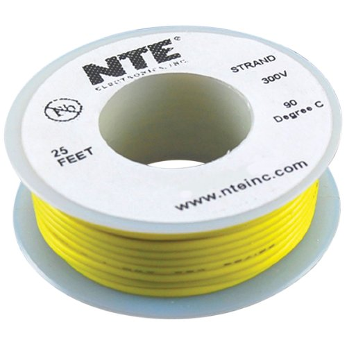 Nte Stranded 24 Awg Hook-Up Wire Yellow 25 Ft.