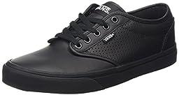 Vans Men\'s Atwood (Perf Leather) Black/Black Skate Shoe 9 Men US