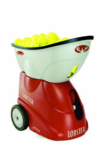 Lobster Sports Elite 2 Portable Tennis Ball Machine (21x14x 20- Inch)
