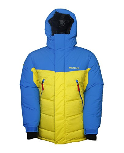 Marmot Mens 8000M Parka Jacket Acid Yellow/Colbalt Blue Medium (Marmot 8000 Mitt compare prices)