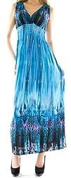Womens Empire Waist Maxi Dress