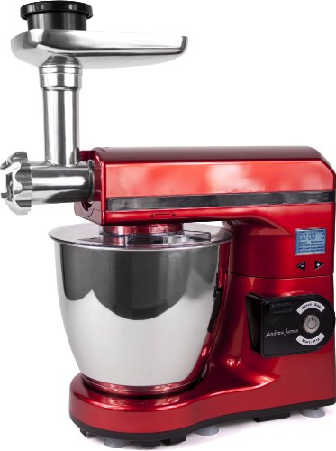 Andrew James Red 7 Litre Food Mixer Package, Includes:- Red 7 Litre Food Mixer And Meat Grinder Attachment from 14450 Russell Hobbs