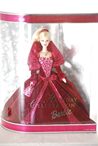 2002 Holiday Celebration Barbie Mattel