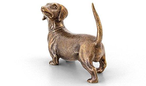Bronze Dachshund Figurine Sculpture Dog