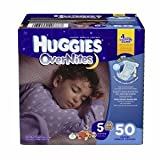 Huggies Overnites Diapers, Big Pack, Size 5, 27+ lbs, 50 ea 1 ea