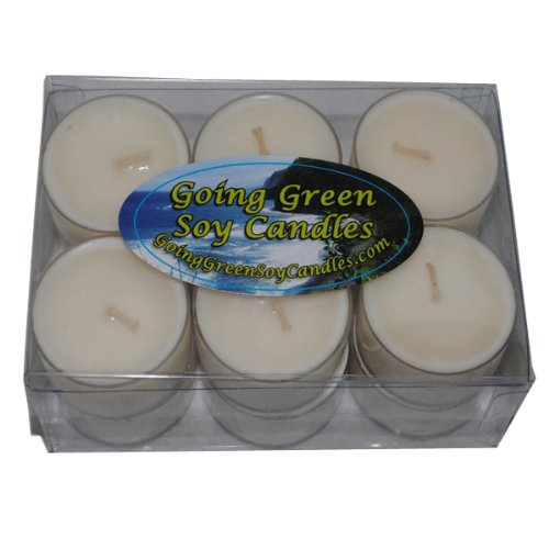 Going Green Soy Candles - Daffodil Soy Candle Tealights - One Dozen Richly Scented Tealights