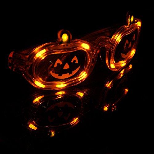 Riorand® Led Flashing Pumpkin Glasses Halloween Led Mode Flashing Jack O Lantern Glasses, One Size