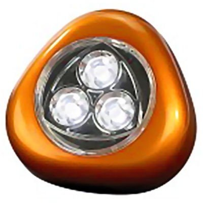 Stick &amp; Push LED Lampe Touchlight in ORANGE mit 3 LED&#39;s zum ankleben