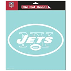 Buy New York Jets Die-Cut Decal - 8x8 White by Caseys