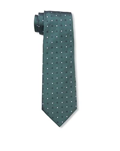 Valentino Men's Dotted Tie, Forest Green