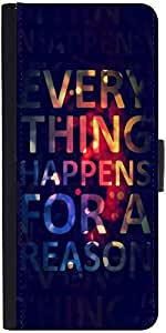 Snoogg Everything Happens For A Reasondesigner Protective Flip Case Cover For...