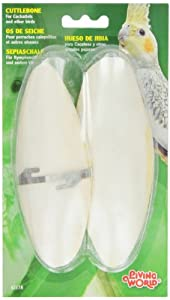 Living World Cuttlebone, Large, Twin Pack