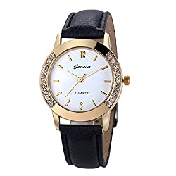 Geneva Platinum Analog White Dial Womens Watch - GP-005